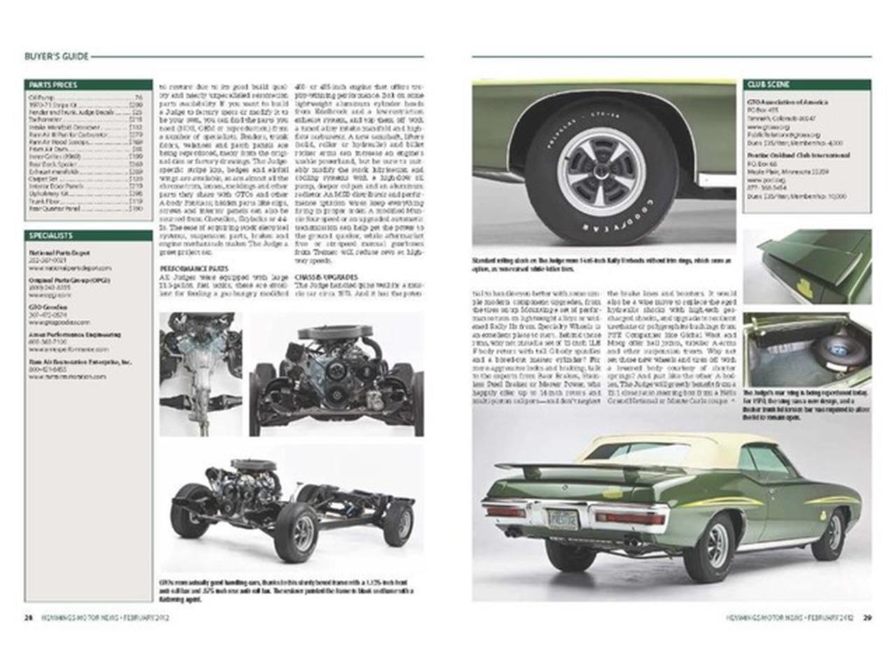 Large Picture of Classic 1970 Pontiac GTO (The Judge) - PU25