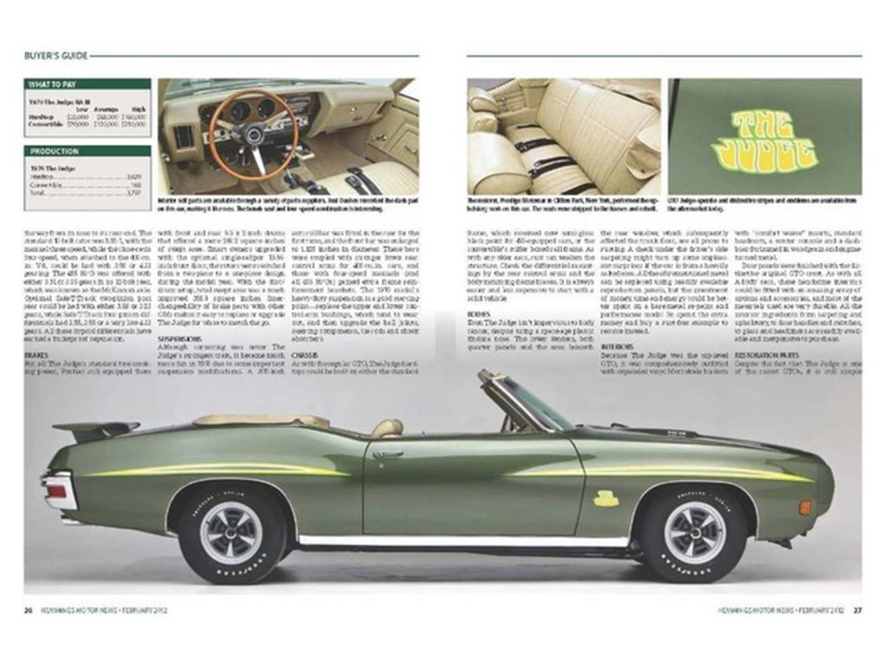 Large Picture of 1970 Pontiac GTO (The Judge) - $219,000.00 Offered by Prestige Motor Car Co. - PU25