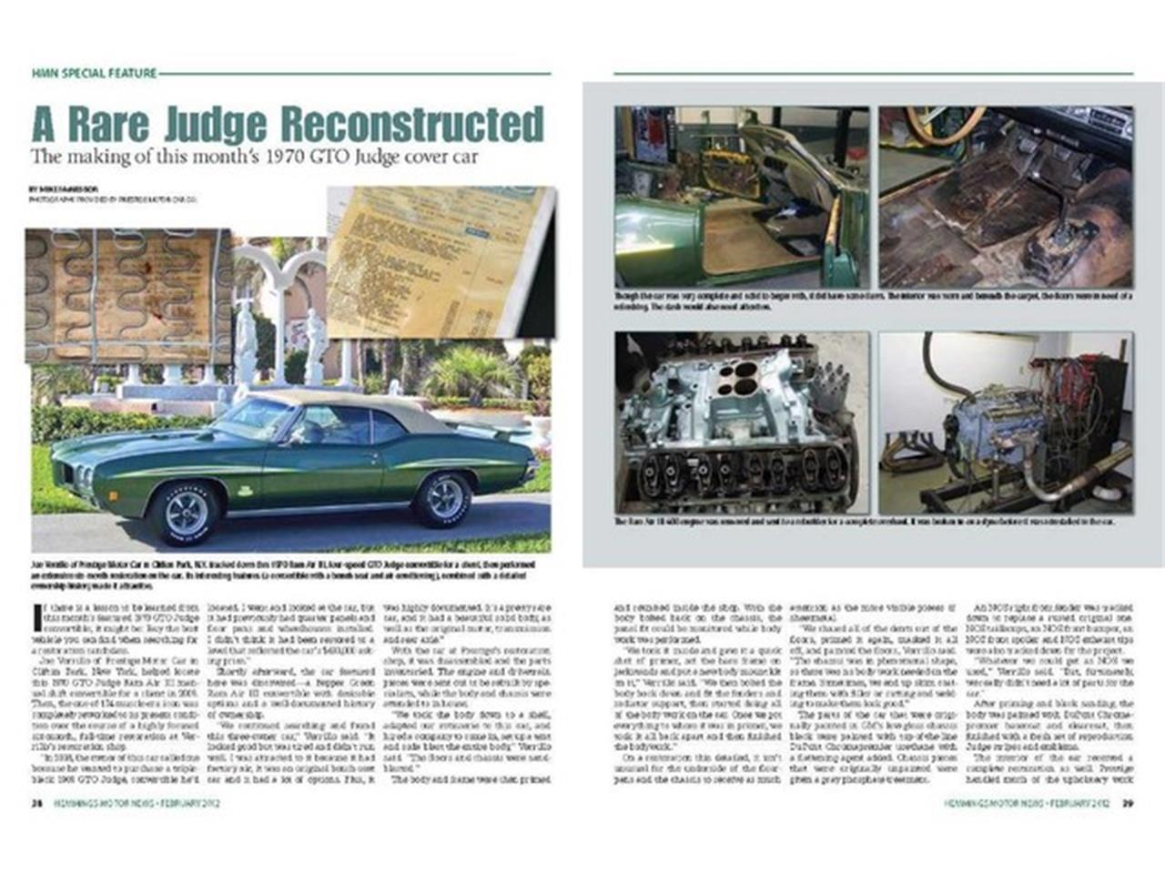 Large Picture of '70 Pontiac GTO (The Judge) located in Clifton Park New York Offered by Prestige Motor Car Co. - PU25