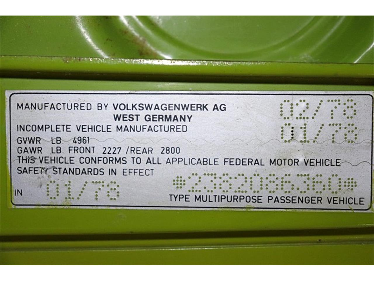Large Picture of '78 Westfalia Camper - PYNV