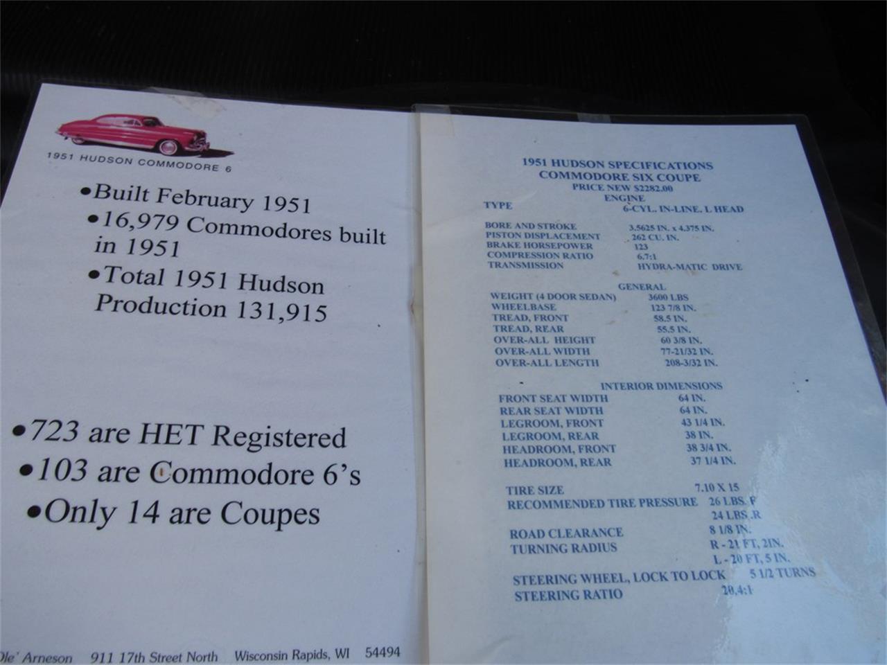 1951 Hudson Commodore for Sale | ClassicCars com | CC-1211884