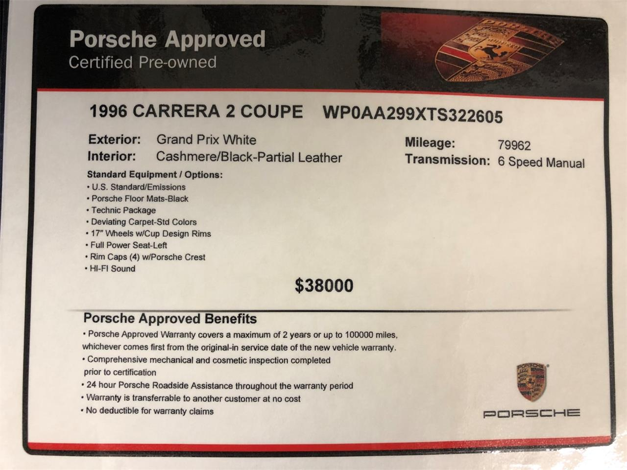Large Picture of '96 911 Carrera - $54,900.00 Offered by Muscle Car Jr - PZB1