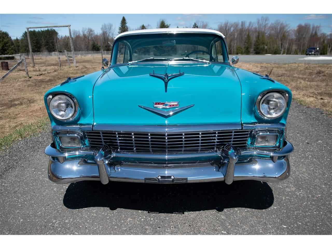 Large Picture of Classic '56 Chevrolet Bel Air located in VAL CARON Ontario - $69,500.00 Offered by R & R Classic Cars - Q1QB
