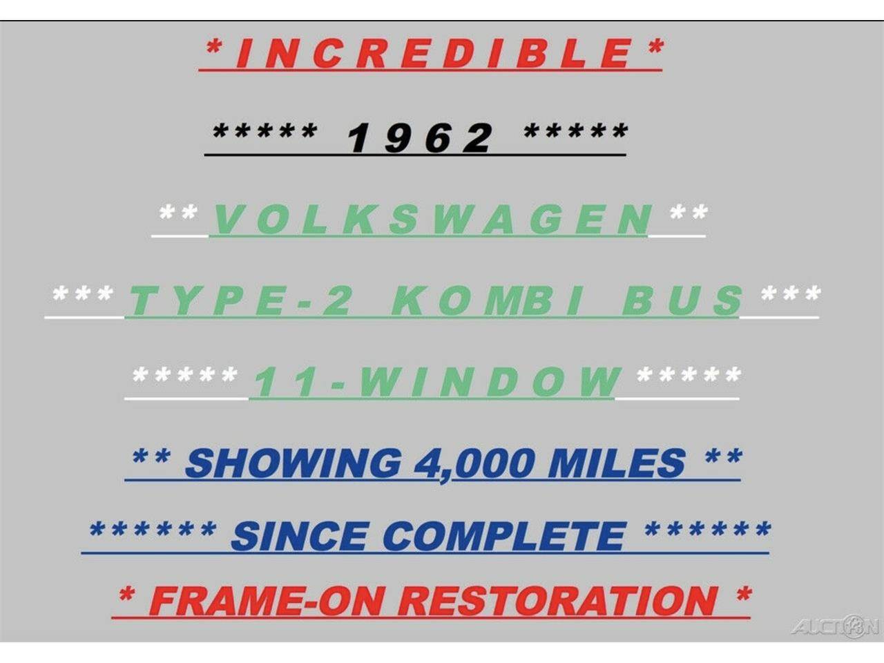 Large Picture of '62 Bus located in Florida - $59,950.00 Offered by FSD Hot Rod Ranch at Royal Auto & Truck Sales - Q2DH
