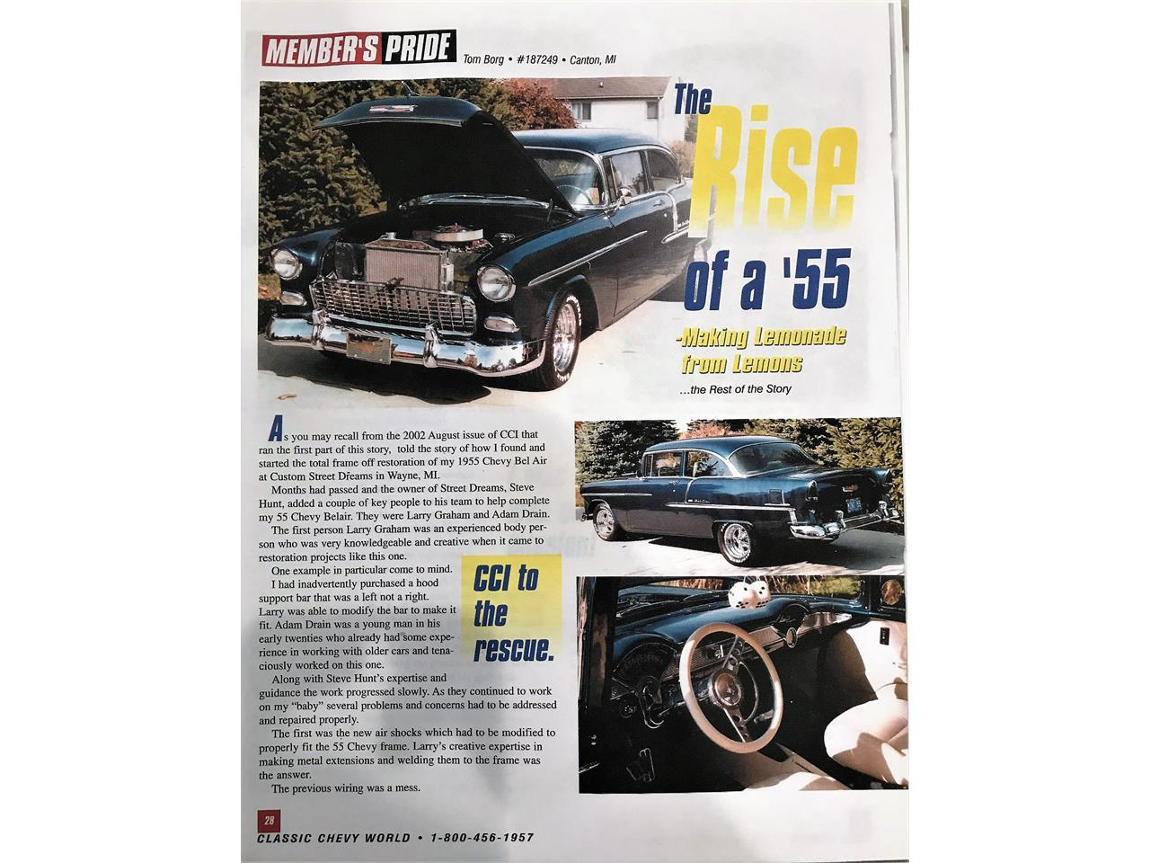 Large Picture of '55 Chevrolet Bel Air - $55,000.00 Offered by a Private Seller - Q2K1