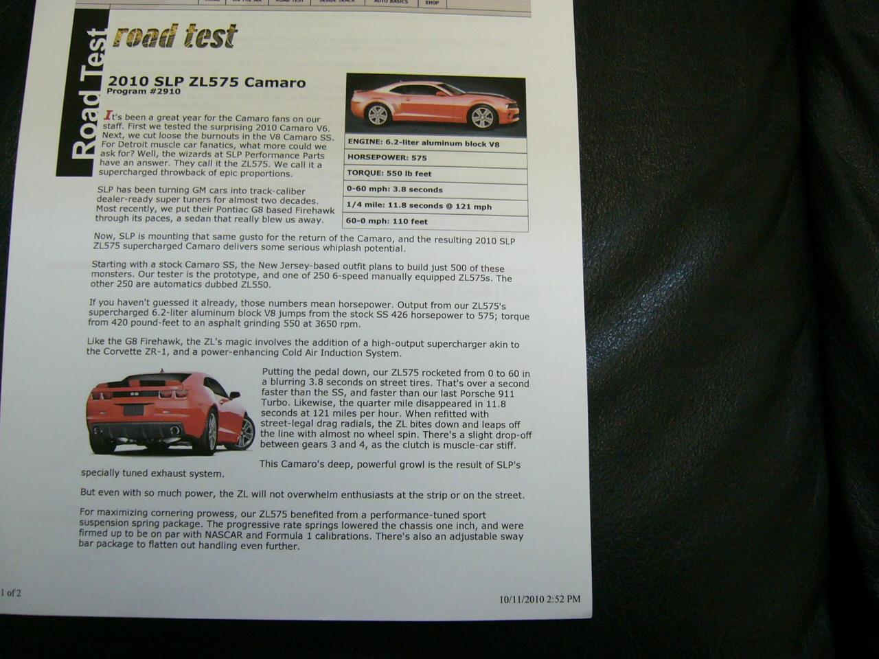 Large Picture of '10 Chevrolet Camaro RS/SS - $37,995.00 Offered by a Private Seller - Q306
