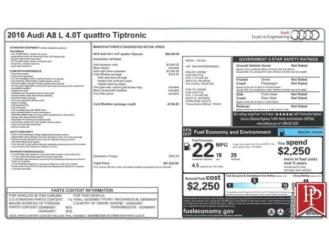 Picture of '16 A8 - Q475