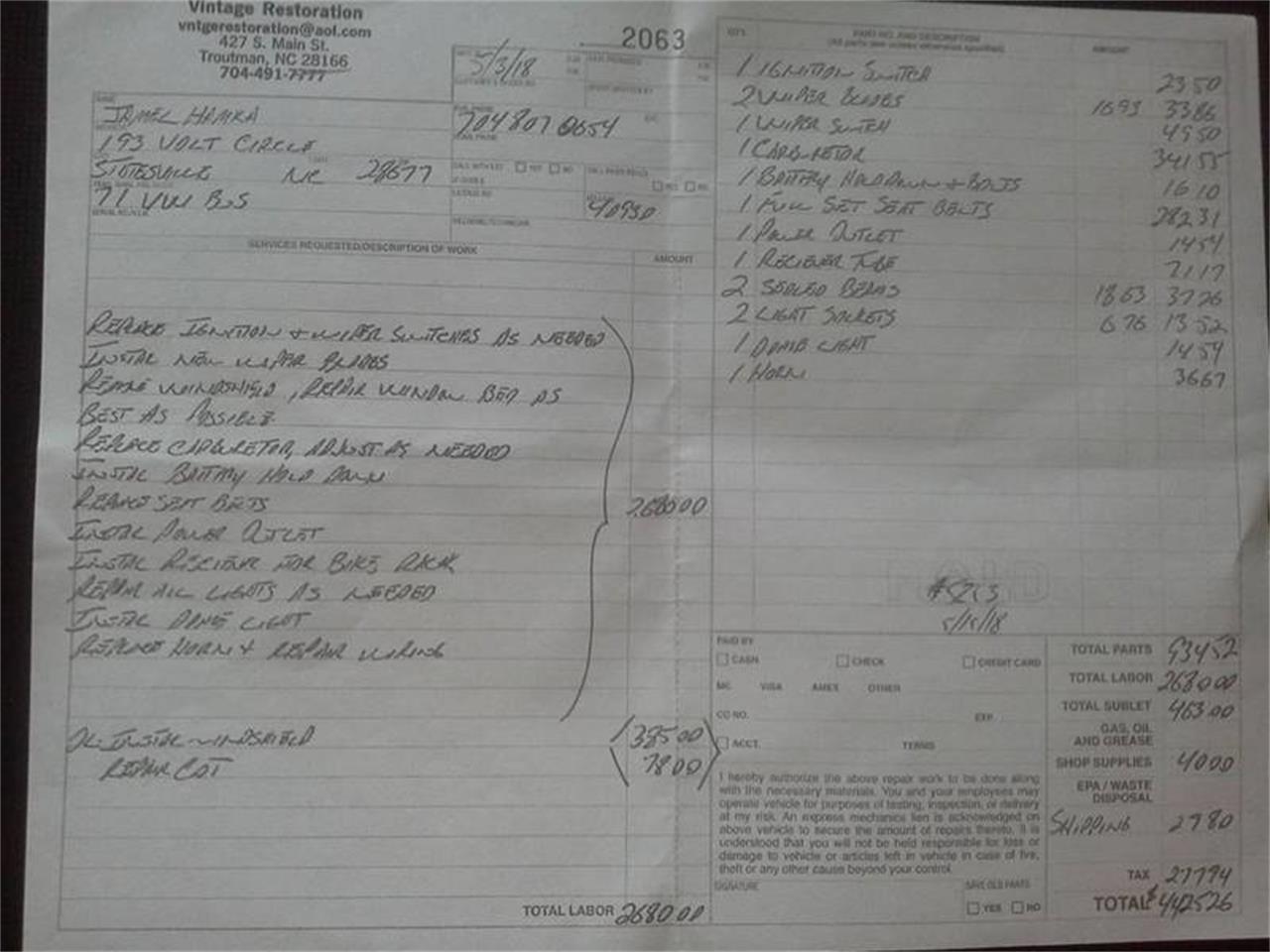 Large Picture of '71 Vanagon - Q5CF