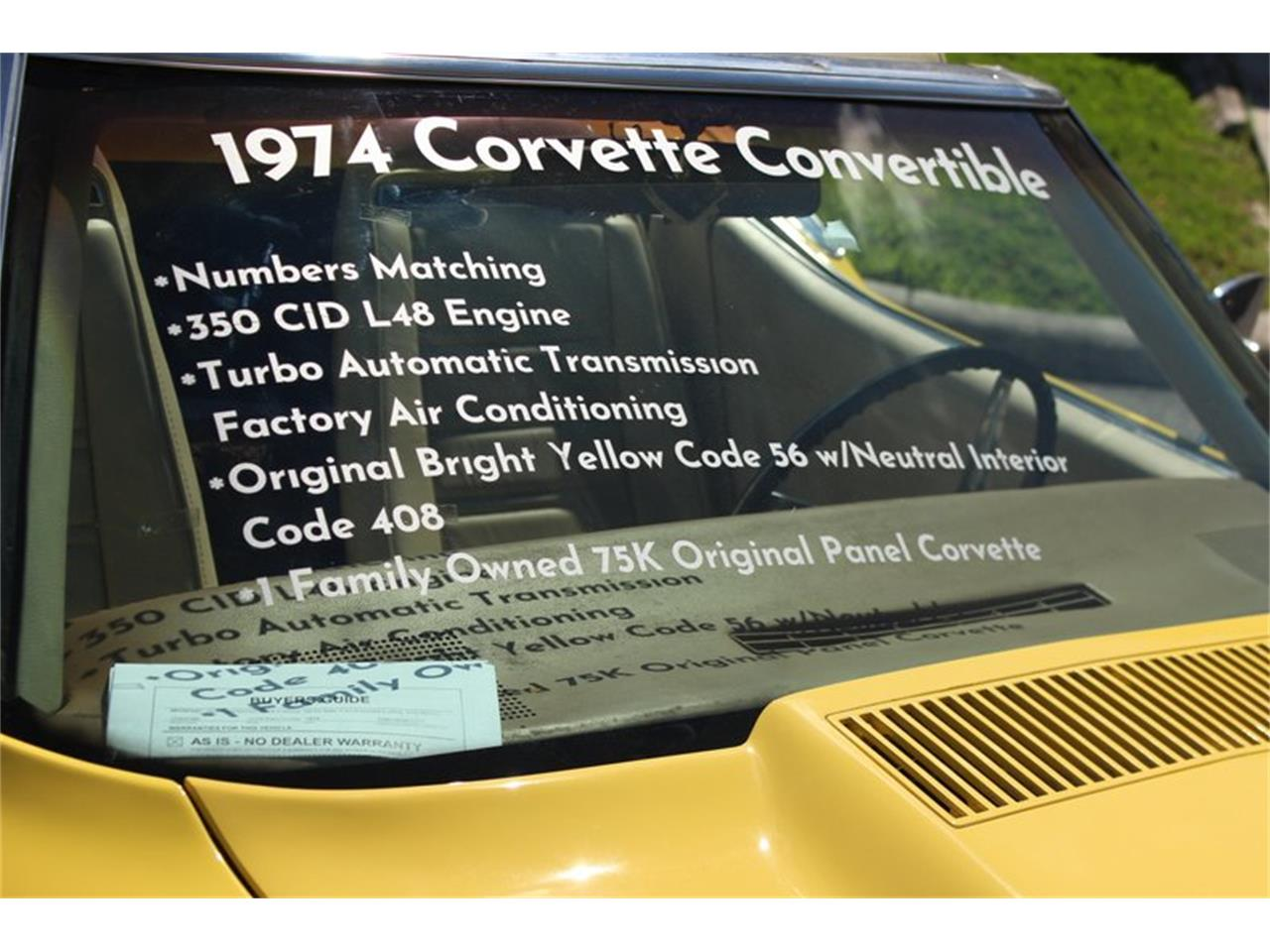Large Picture of '74 Chevrolet Corvette located in Palmetto Florida - $20,997.00 Offered by Skyway Classics - Q5JI