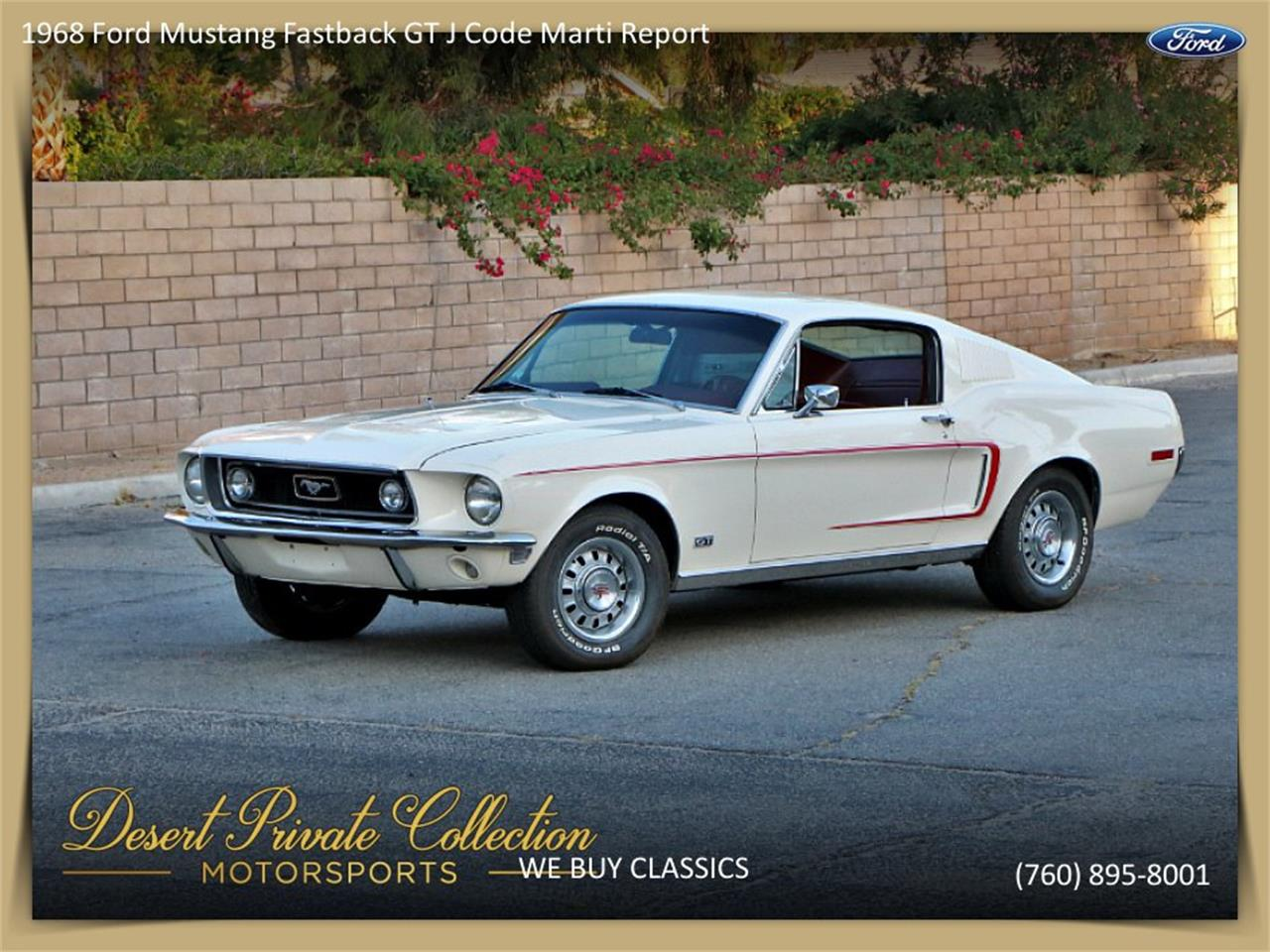 For sale 1968 ford mustang gt in palm desert california