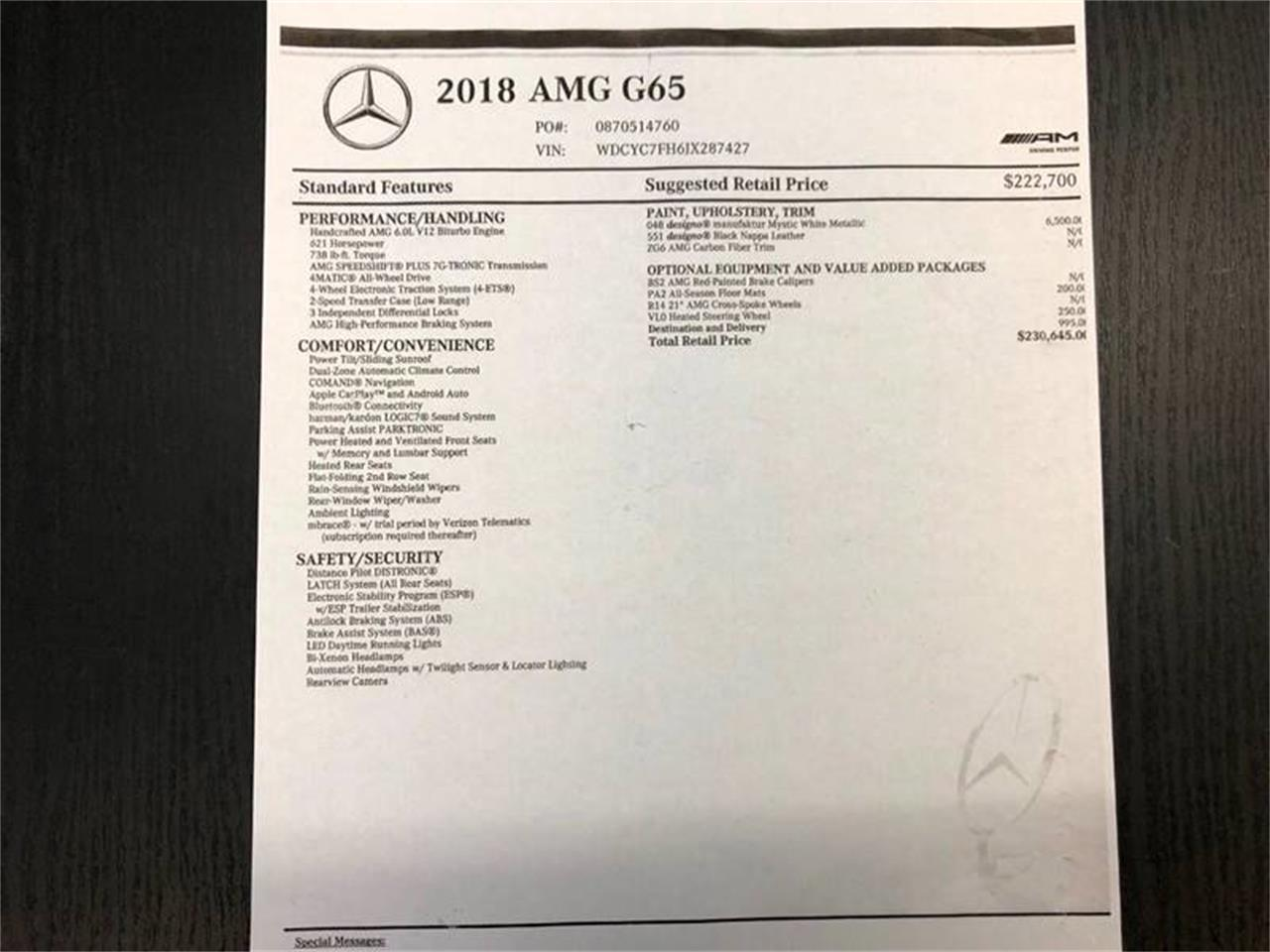 Large Picture of 2018 G-Class Offered by Veloce Motorsales - QBHD