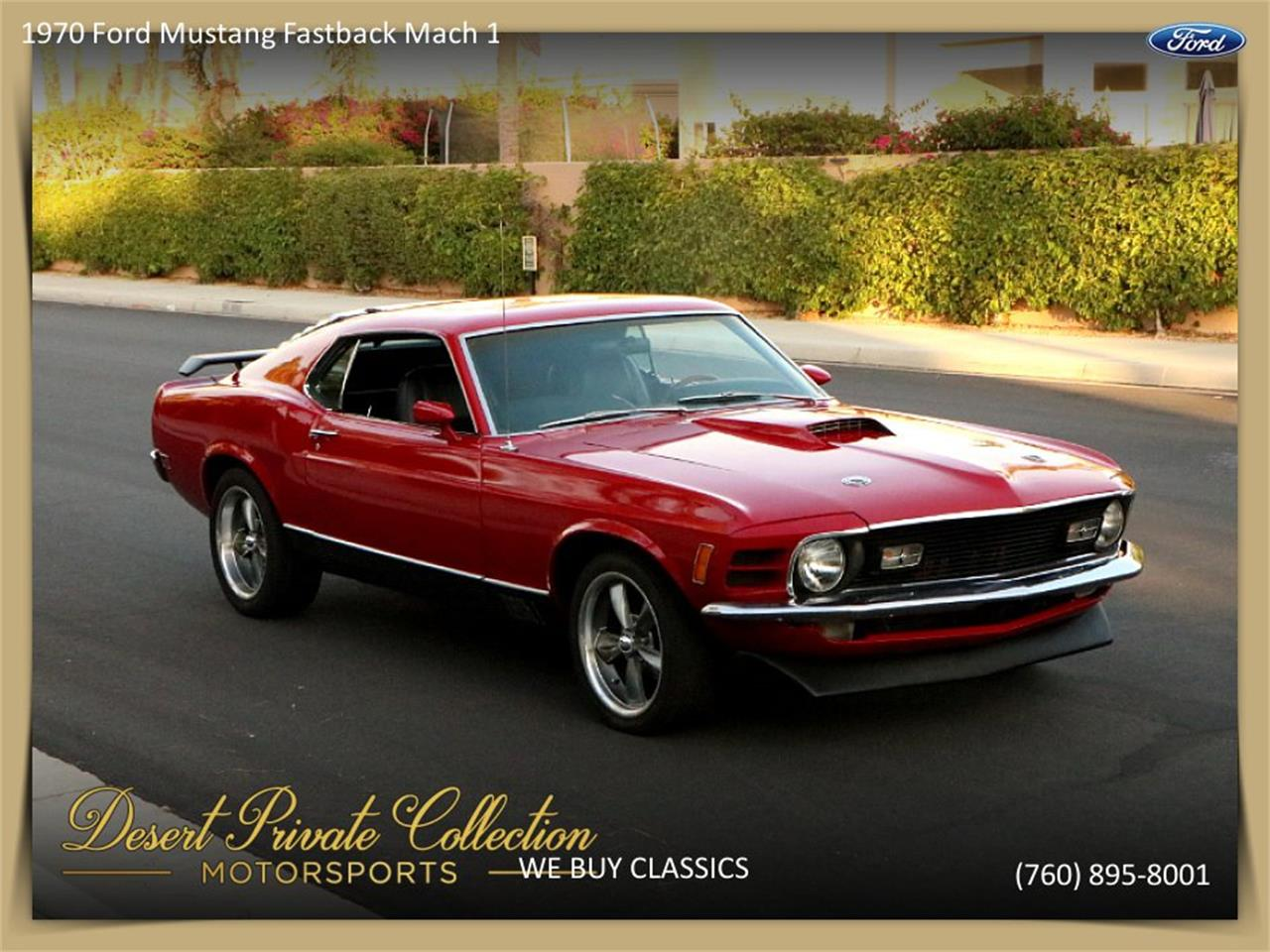 Large Picture of Classic 1970 Mustang Mach 1 located in Palm Desert  California - $36,950.00 - QDYU