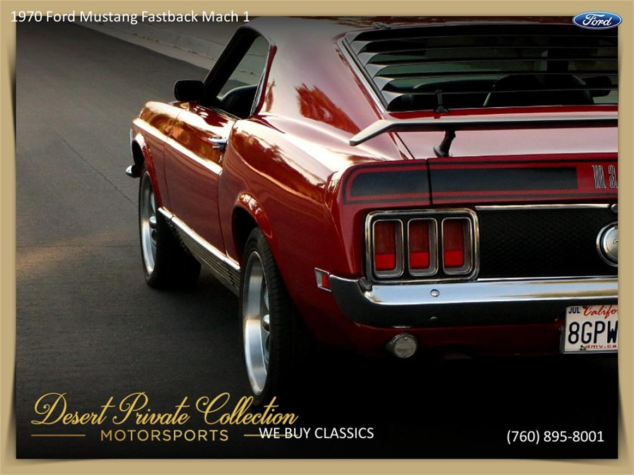 Large Picture of 1970 Ford Mustang Mach 1 - QDYU