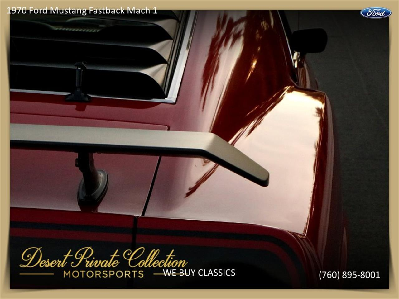 Large Picture of '70 Mustang Mach 1 located in Palm Desert  California Offered by Palm Desert Auto - QDYU