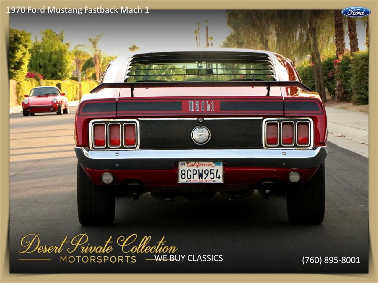 Large Picture of Classic 1970 Ford Mustang Mach 1 located in Palm Desert  California - QDYU