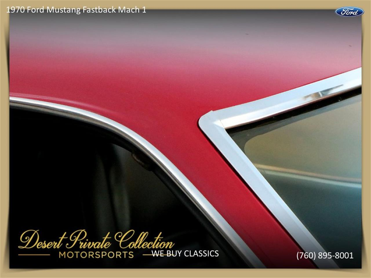 Large Picture of Classic 1970 Ford Mustang Mach 1 Offered by Palm Desert Auto - QDYU