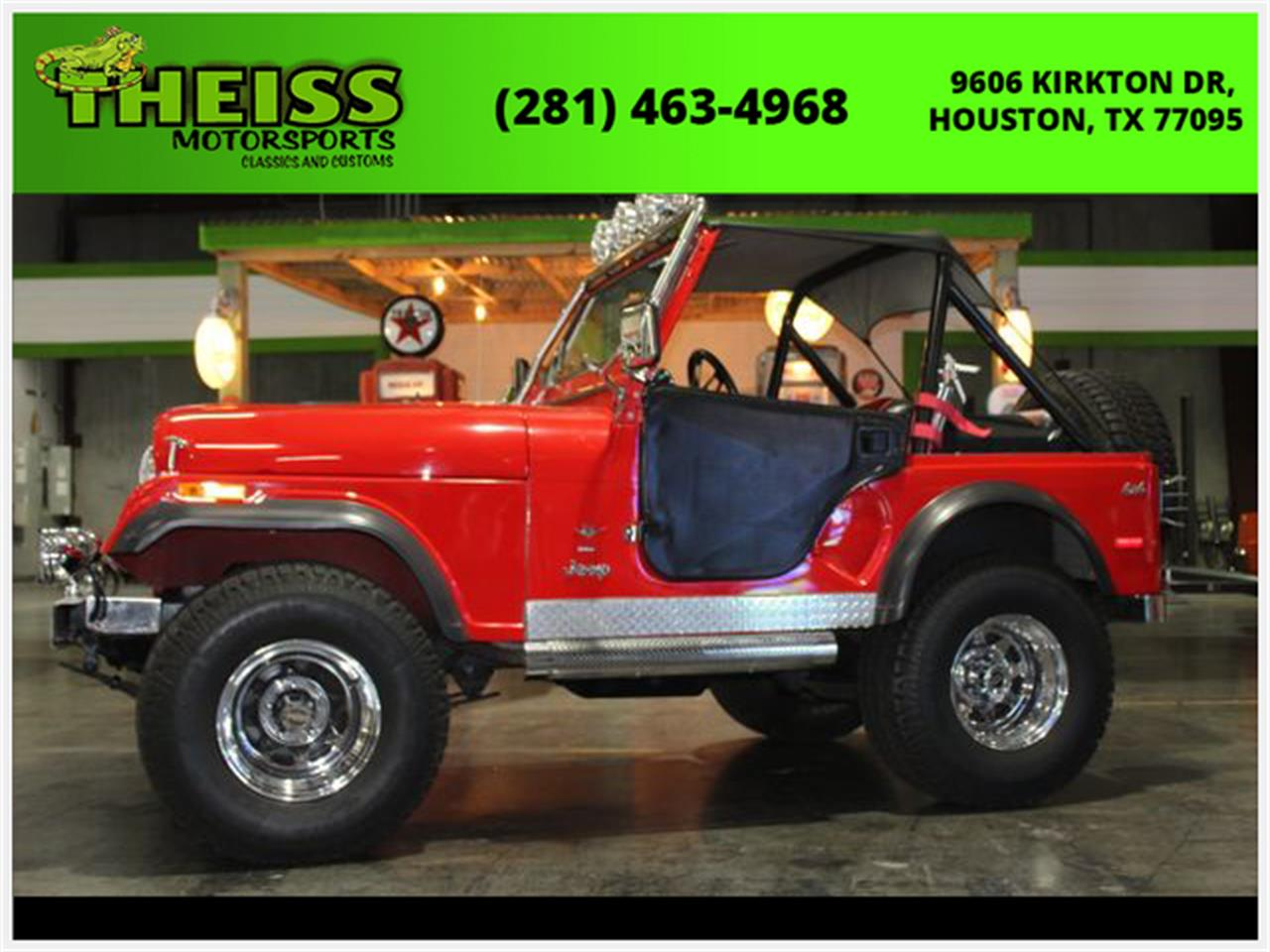 Large Picture of '77 Jeep CJ5 located in Houston Texas Offered by Theiss Motorsports Classics and Customs - QEVB