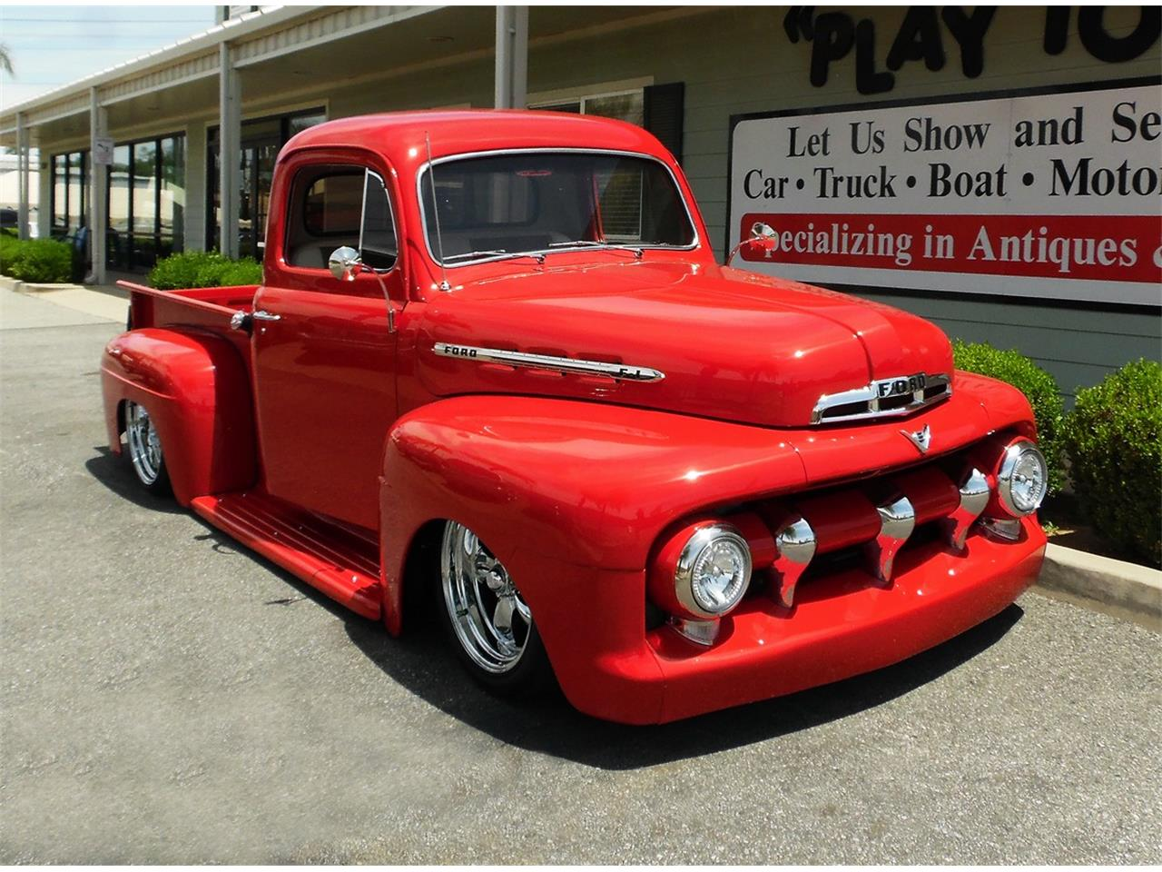 Large Picture of 1951 Ford F100 located in Redlands California Offered by Play Toys Classic Cars - QDE5