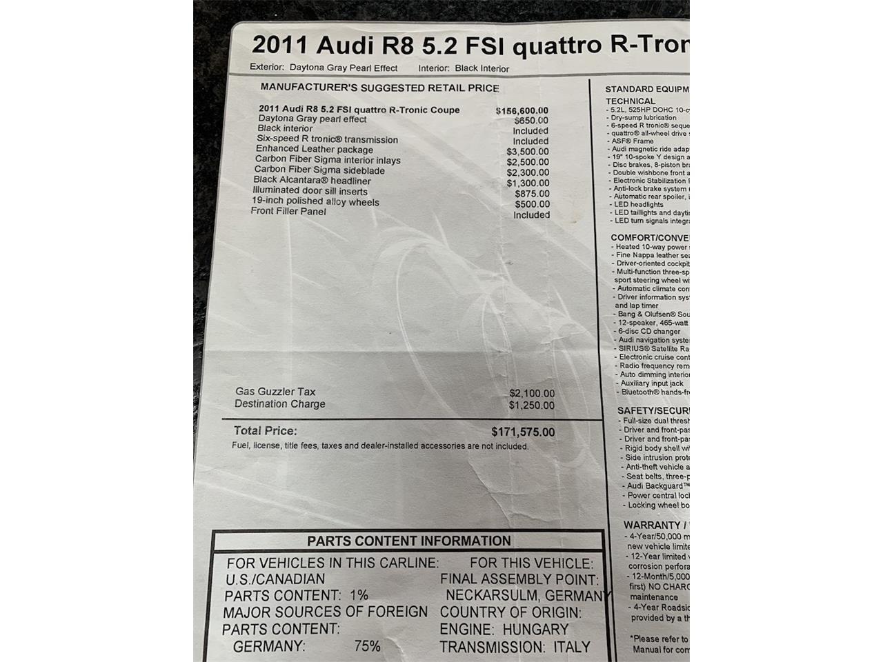 For Sale: 2011 Audi R8 in Huntington Station, New York