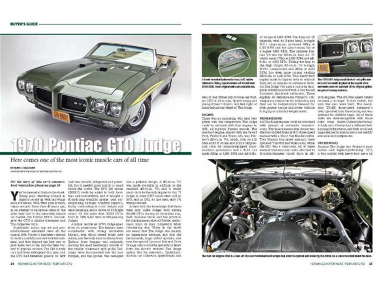 Large Picture of '70 Pontiac GTO (The Judge) located in Clifton Park New York Offered by Prestige Motor Car Co. - QDN8