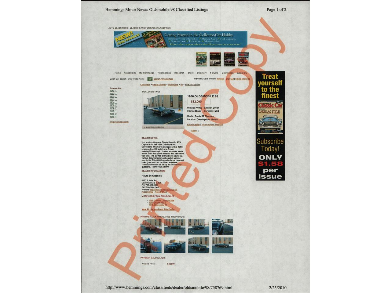 Large Picture of Classic 1967 98 located in Arizona - $28,500.00 - QIZI