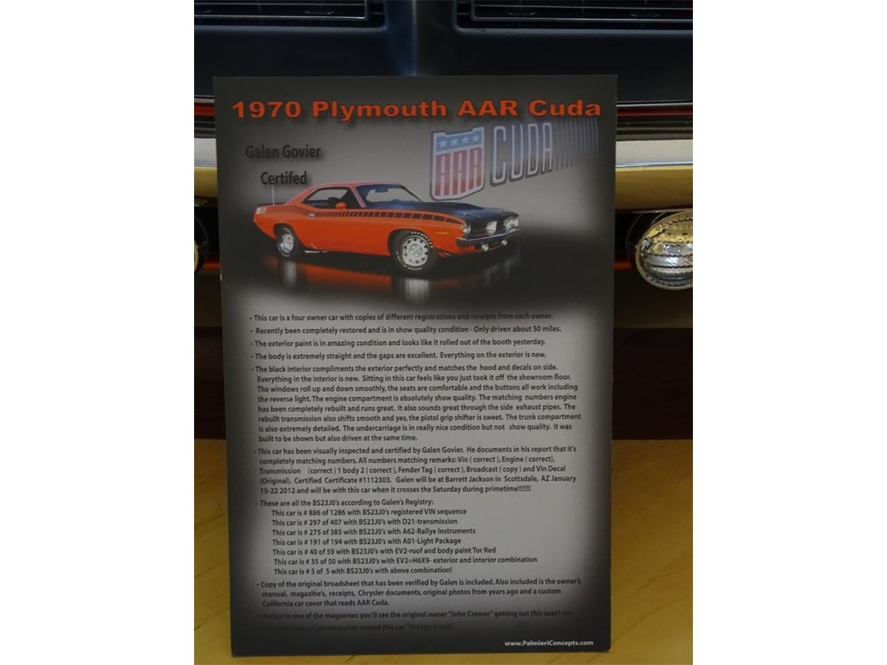 Large Picture of '70 Cuda - QJ9B