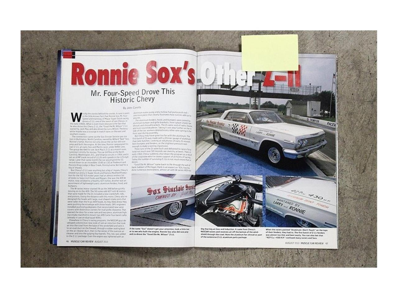 Large Picture of Classic '63 Chevrolet Impala - $360,000.00 Offered by a Private Seller - QK96