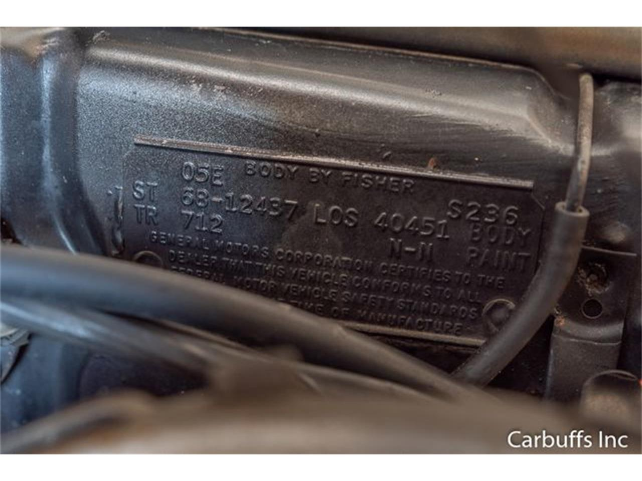 Large Picture of Classic 1968 Camaro located in Concord California Offered by Carbuffs - QL0H