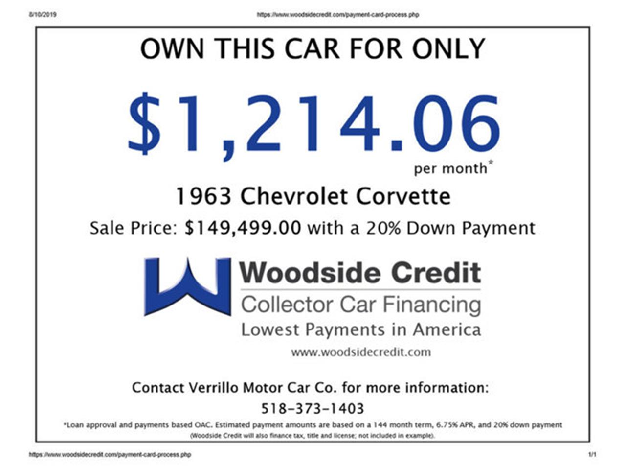 Large Picture of Classic '63 Corvette - $139,999.00 Offered by Prestige Motor Car Co. - QOXV
