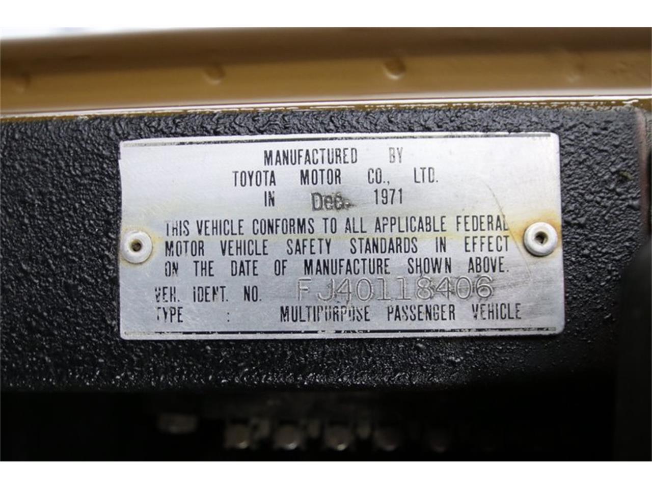 Large Picture of '72 Land Cruiser FJ40 - QSEF