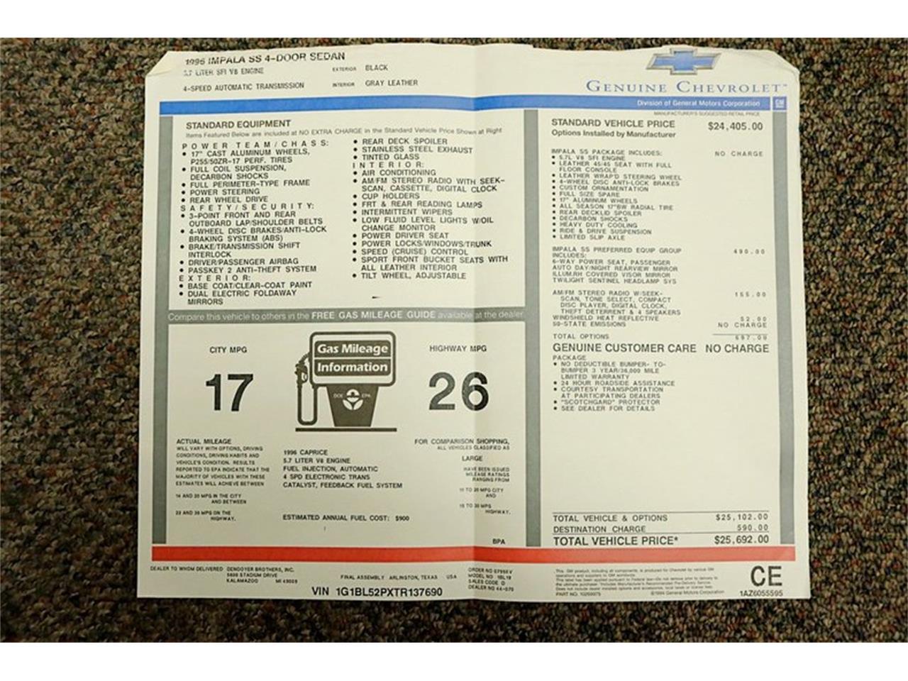Large Picture of '96 Impala - $16,900.00 - QV81
