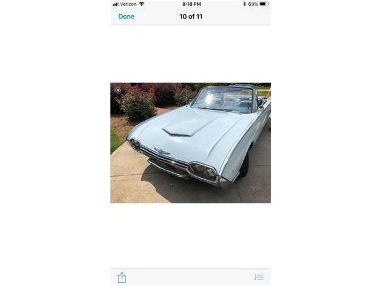 Large Picture of Classic 1961 Ford Thunderbird located in Long Island New York Offered by DP9 Motorsports - QWHZ