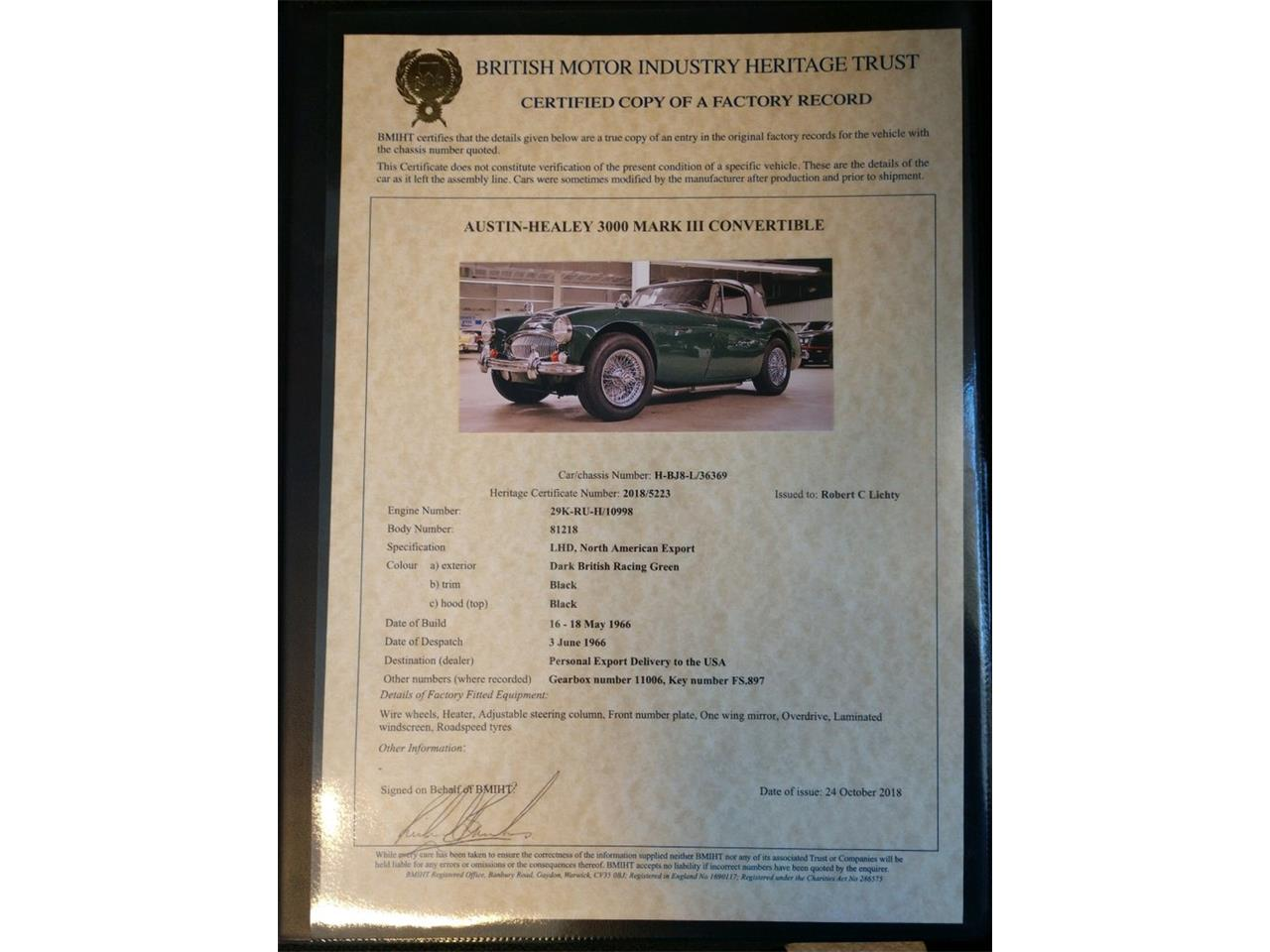 Large Picture of '67 Austin-Healey 3000 Mark III BJ8 Offered by Saratoga Auto Auction - R16P