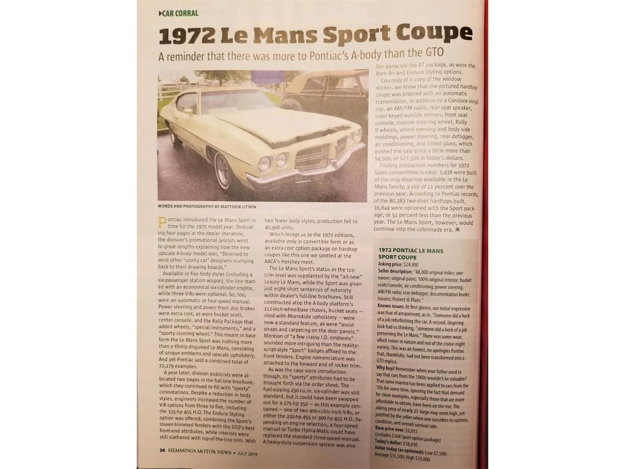 Large Picture of '72 LeMans - R16S