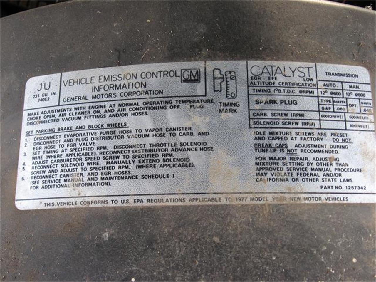 Large Picture of '77 Cutlass S - 7YN4