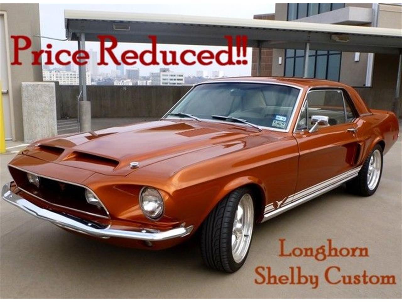 For Sale: 1968 Ford MUSTANG LONGHORN SHELBY CUSTOM in Arlington, Texas