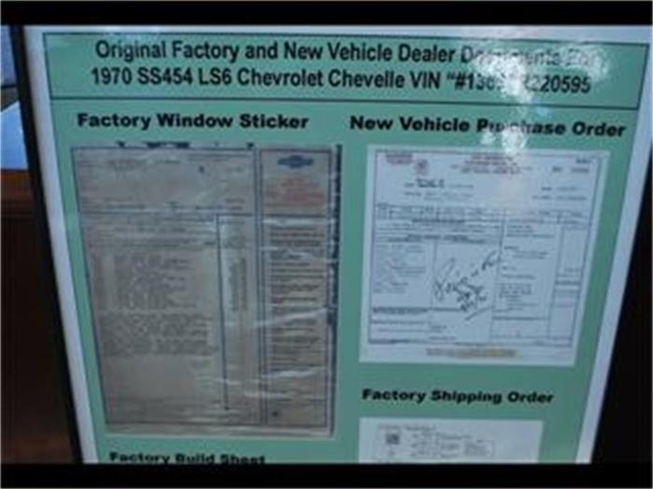 Large Picture of Classic 1970 Chevelle SS Auction Vehicle - EYH4