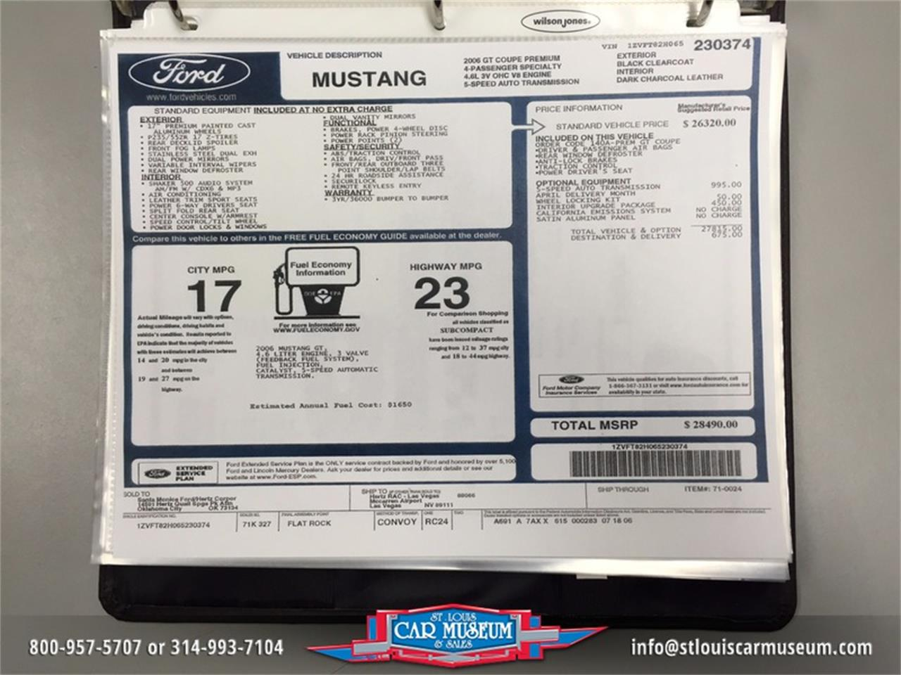 Large Picture of 2006 Mustang GT-H - $39,900.00 Offered by St. Louis Car Museum - HADA
