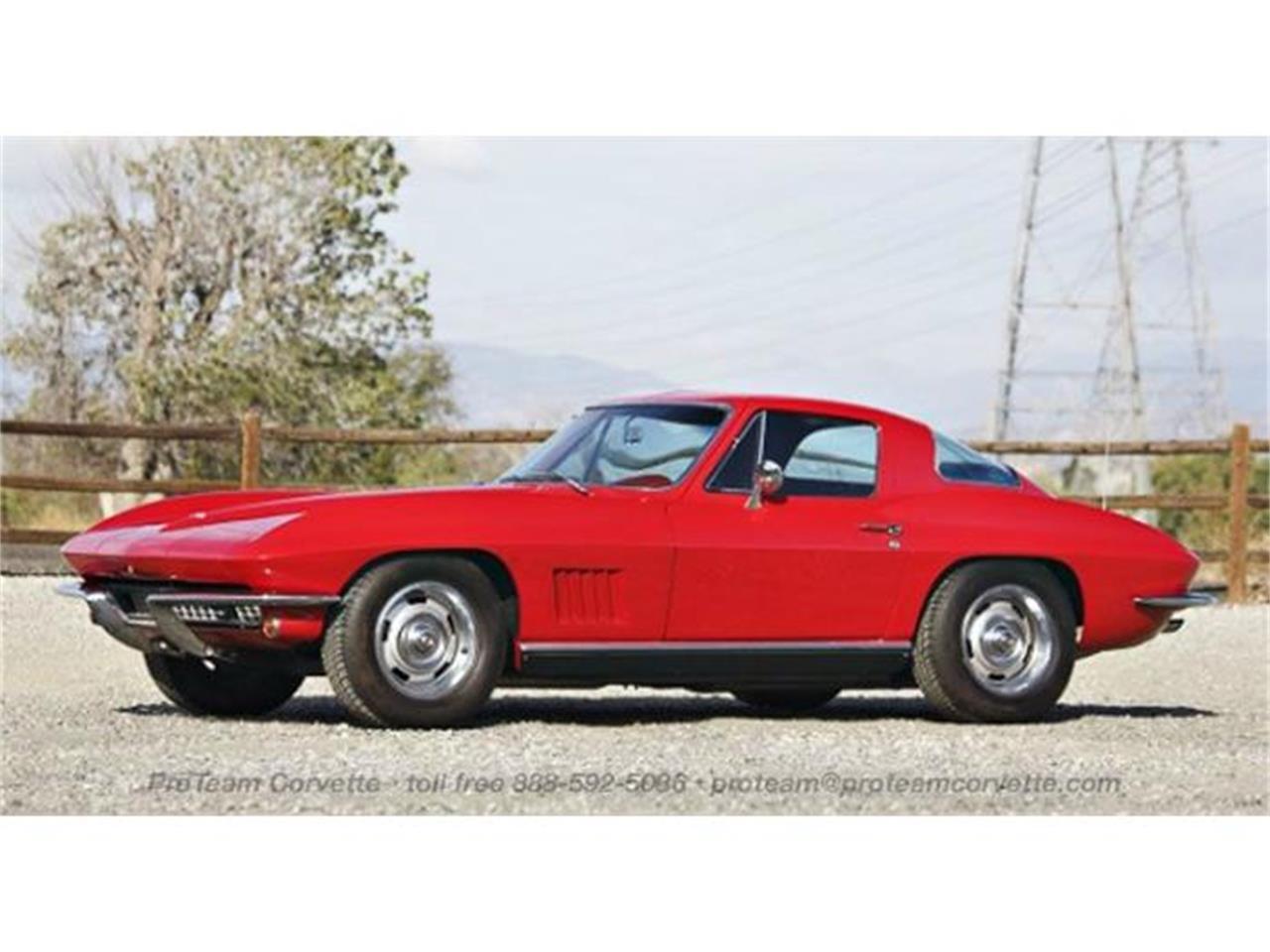 Large Picture of Classic '67 Corvette located in Napoleon Ohio Offered by Proteam Corvette Sales - I35A