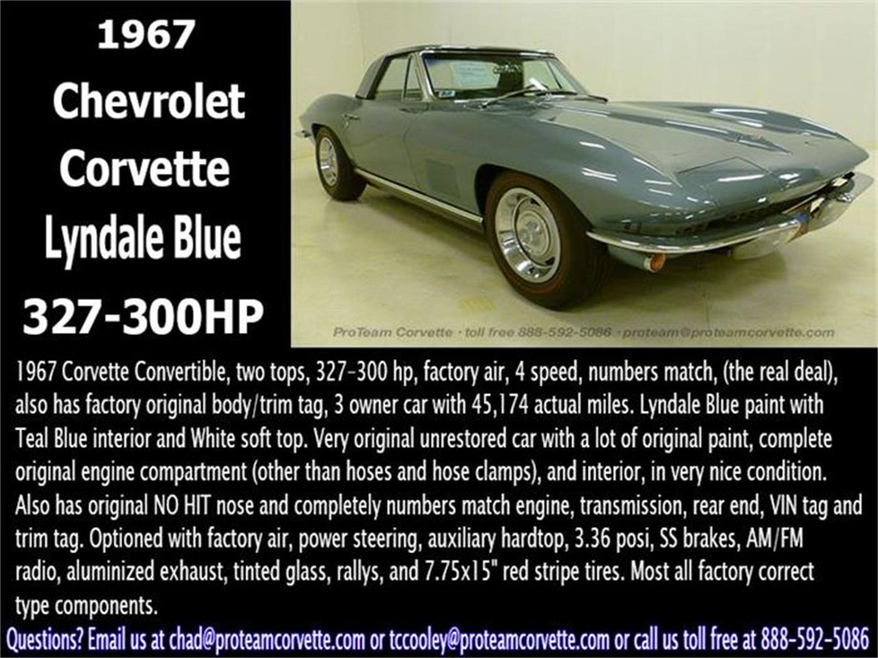 Large Picture of Classic '67 Corvette located in Napoleon Ohio - $79,995.00 - I3Y7