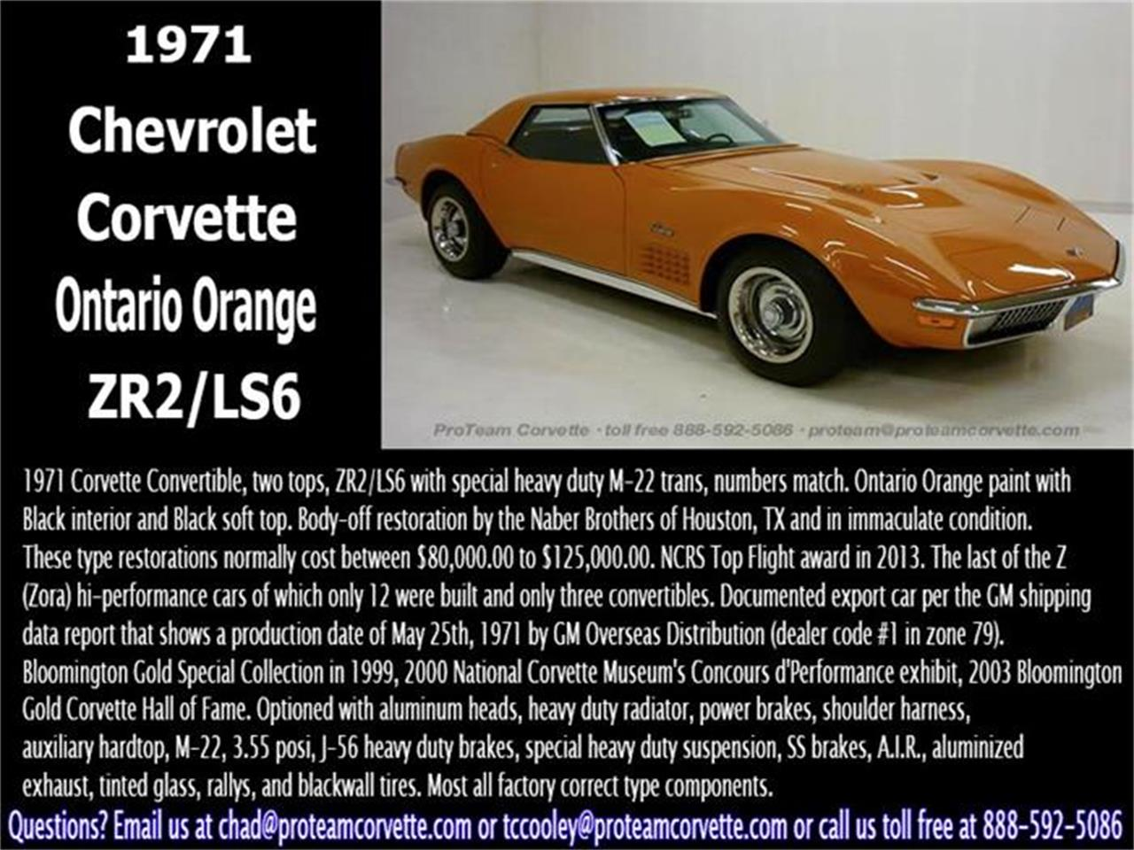 Large Picture of Classic 1971 Chevrolet Corvette located in Ohio Auction Vehicle - I7BK