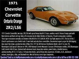 Picture of 1971 Chevrolet Corvette Auction Vehicle Offered by Proteam Corvette Sales - I7BK
