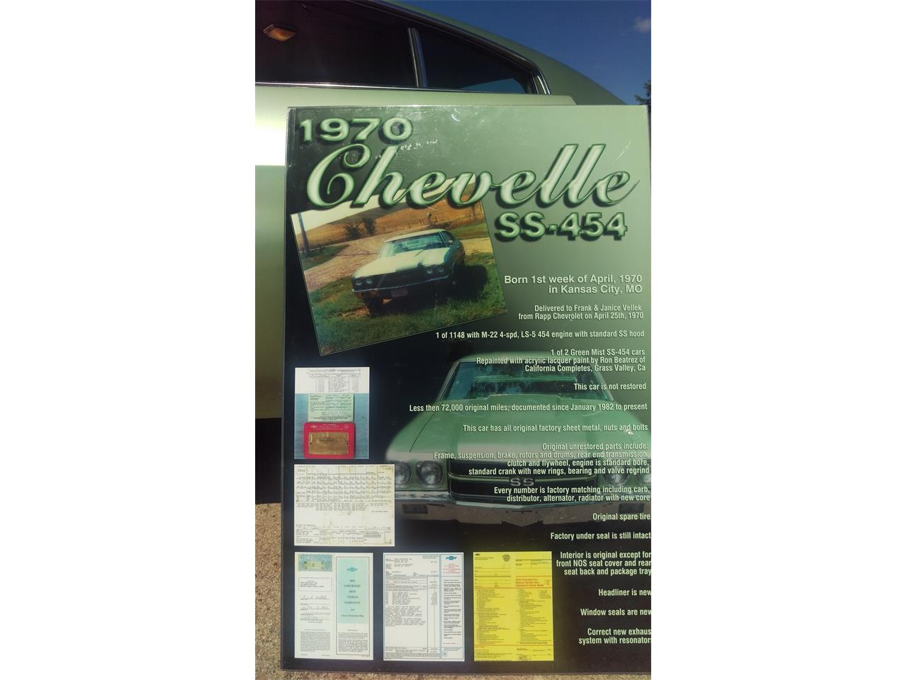 Large Picture of Classic 1970 Chevrolet Chevelle SS Offered by a Private Seller - IWGL