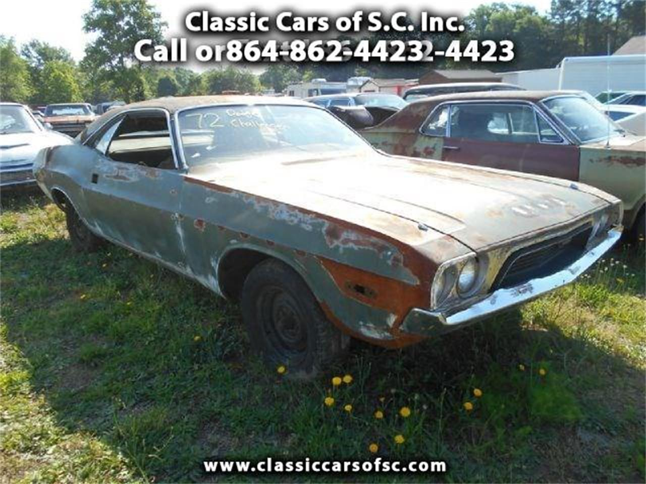 Large Picture of 1972 Challenger - $4,000.00 Offered by Classic Cars of South Carolina - J1O6