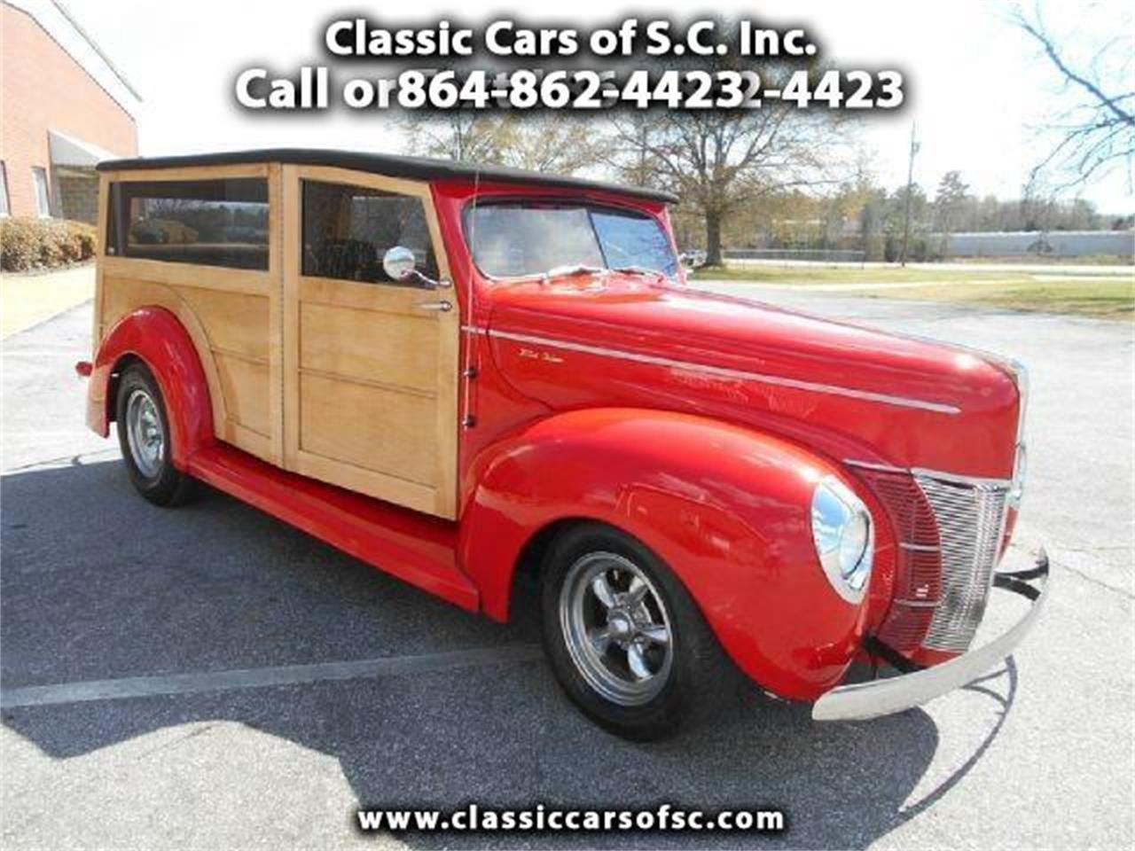 Large Picture of Classic 1940 Ford Woody Wagon Offered by Classic Cars of South Carolina - J1PW