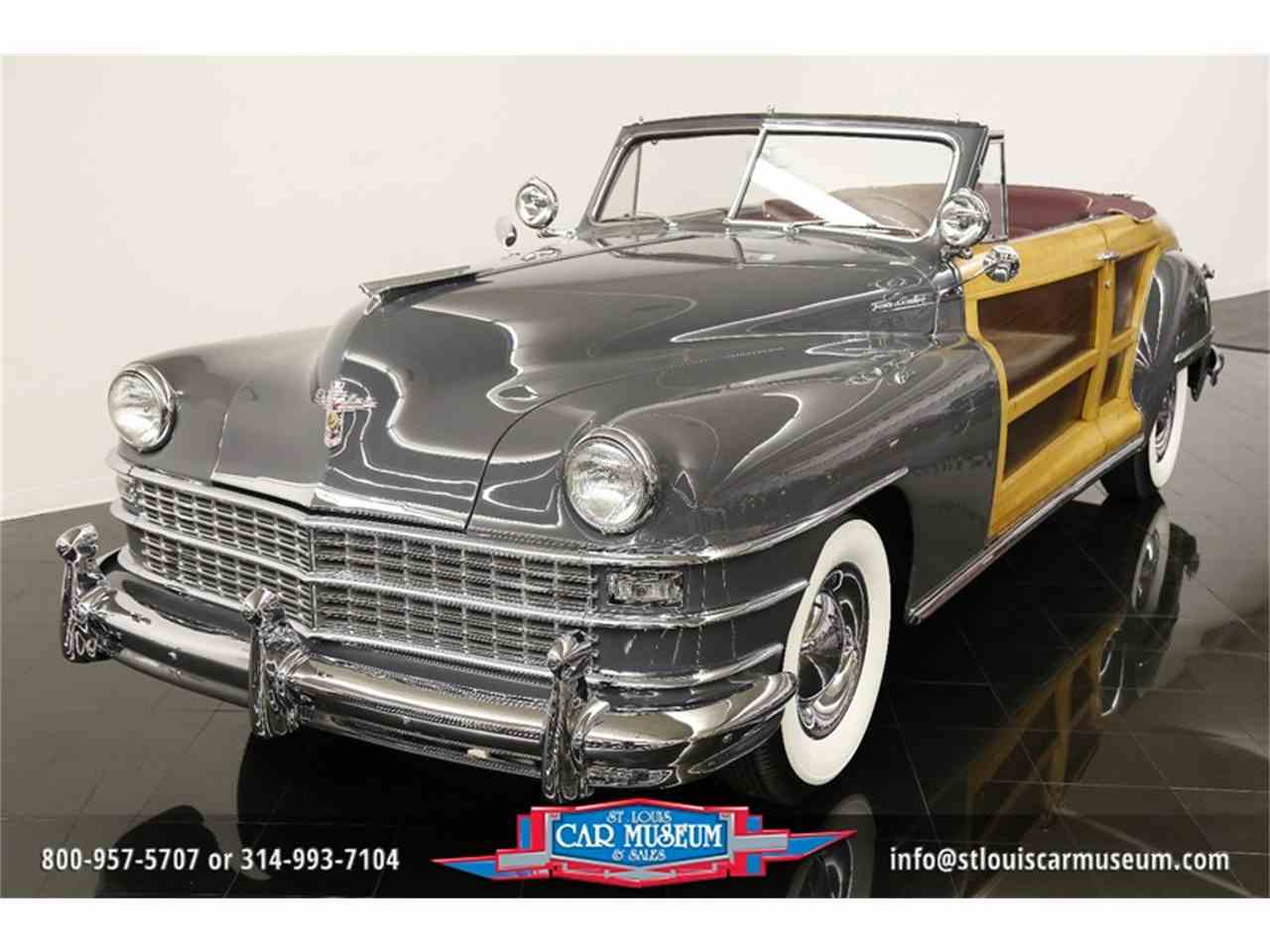 Large Picture of Classic 1948 Chrysler Town & Country Convertible located in St. Louis Missouri - $119,900.00 Offered by St. Louis Car Museum - JPZI