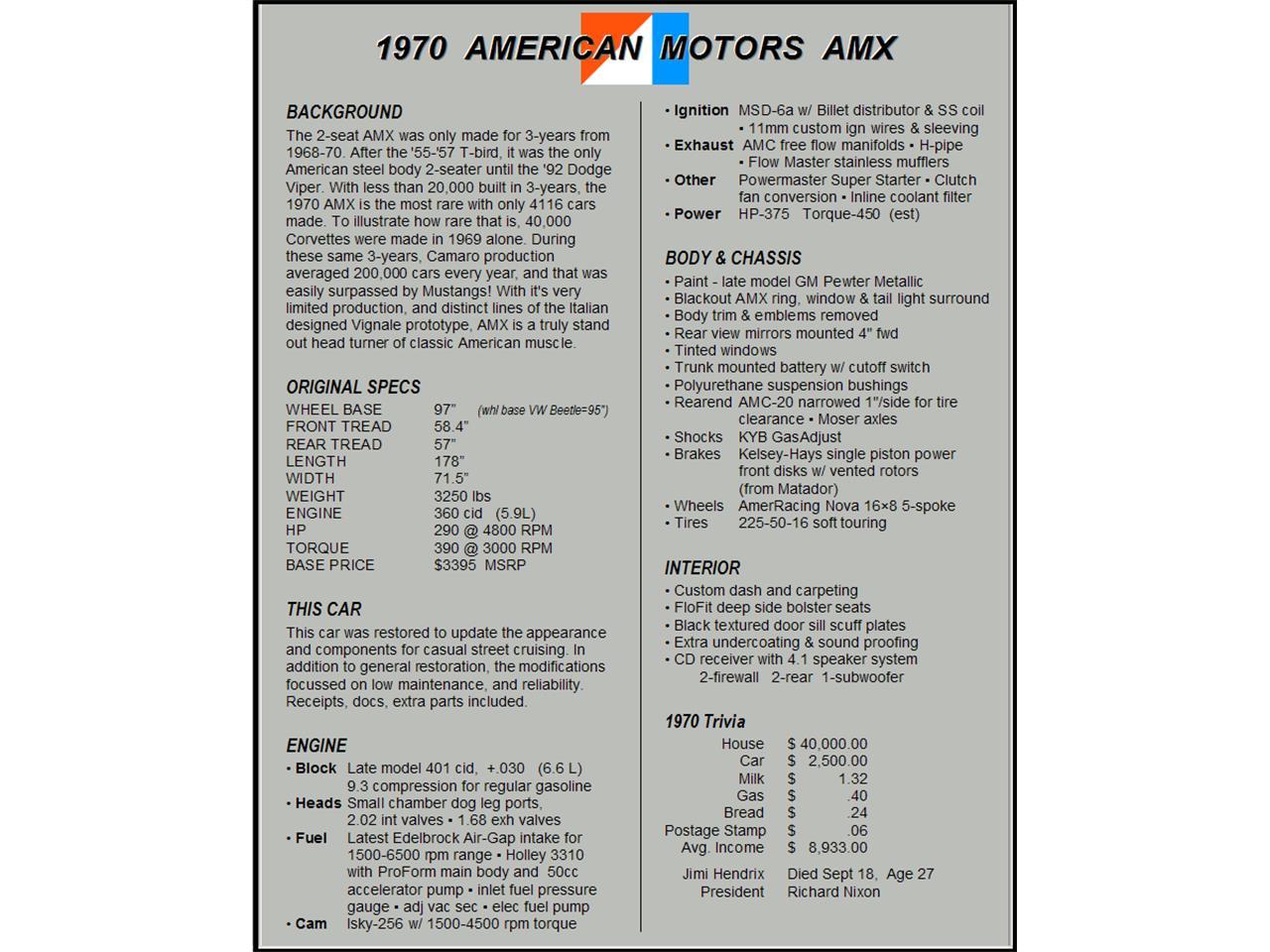 Large Picture of '70 AMX - JQEM