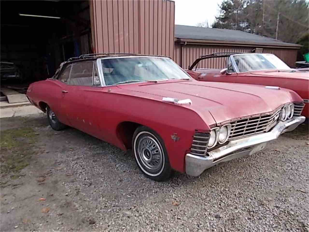 1967 chevy impala convertible for sale cc 936470. Black Bedroom Furniture Sets. Home Design Ideas