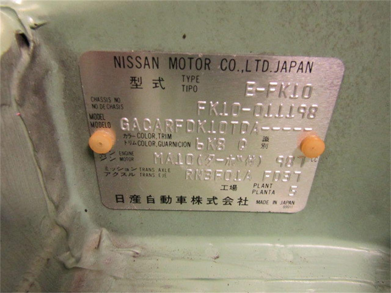 Large Picture of '91 Nissan Figaro - K2PU