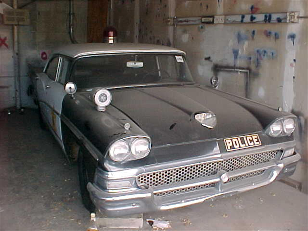 Police Cars For Sale >> For Sale 1958 Ford Police Car In Salt Lake City Utah